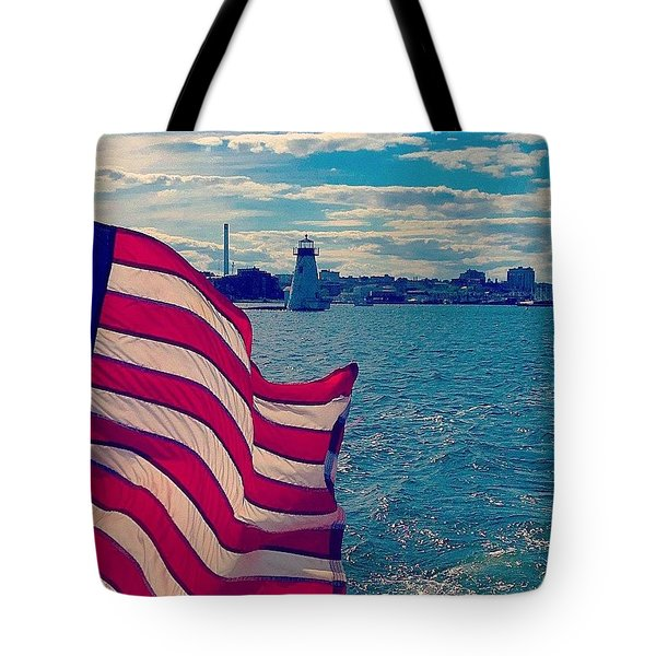 Freedom On The Water Tote Bag