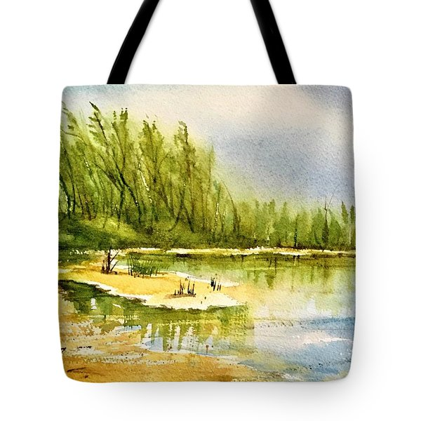 Near The Lake 4 Tote Bag