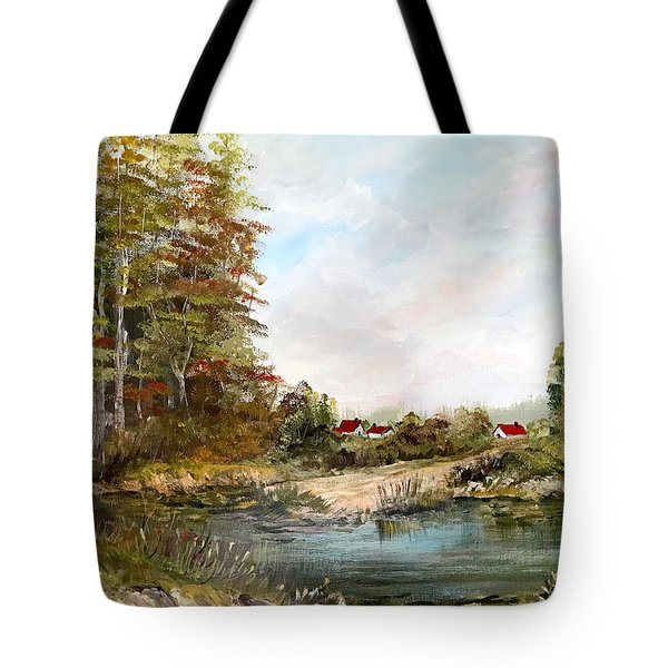 Near The Pond Tote Bag
