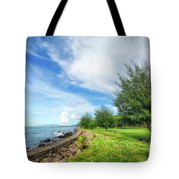 Tote Bag featuring the photograph Near The Shore by Charuhas Images