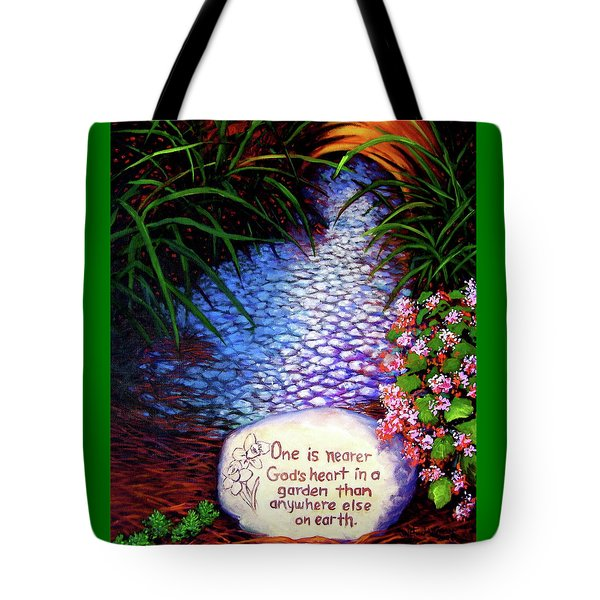 Tote Bag featuring the painting Garden Wisdom, Nearer by Jeanette Jarmon