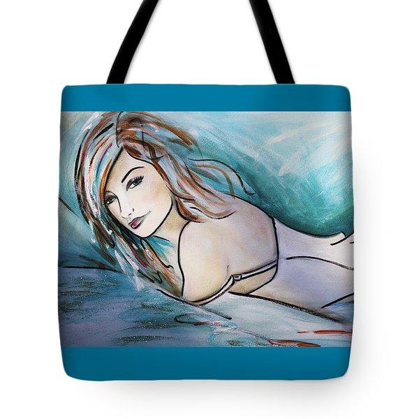 Nearly Naked Aqua Tote Bag