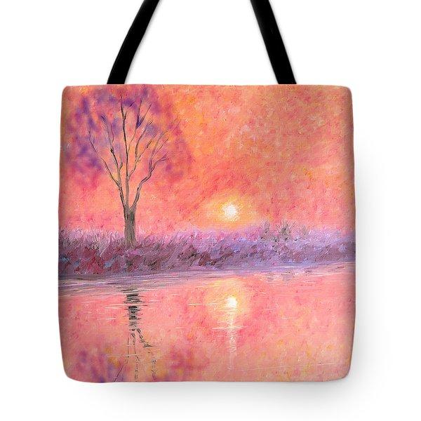 Tote Bag featuring the digital art Nearly Twilight by Elizabeth Lock