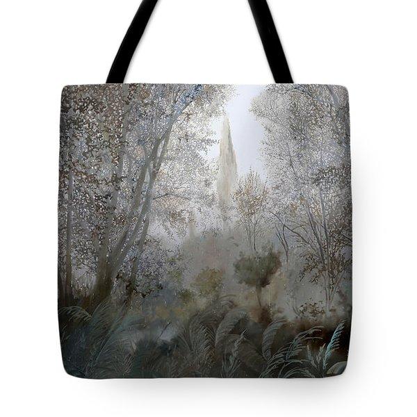 Nebbia Nel Bosco Tote Bag