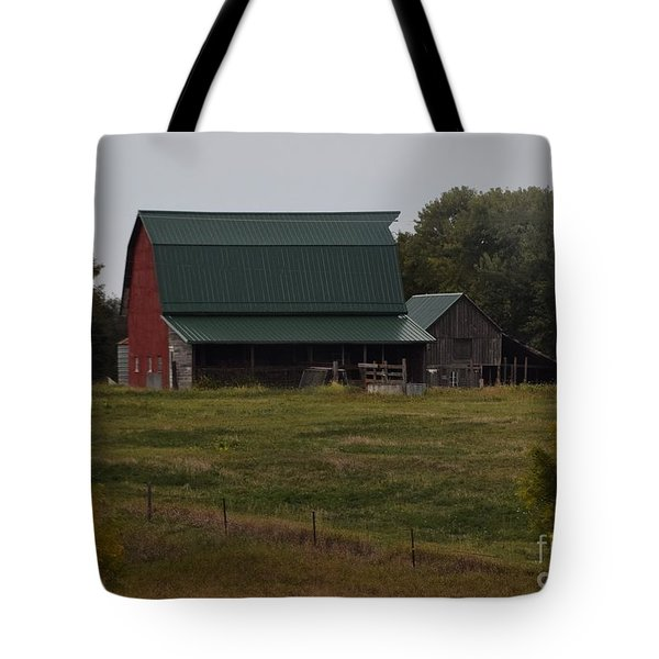 Nebraska Barn Tote Bag by Mark McReynolds