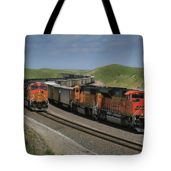 Nebraska Coal Trains Tote Bag