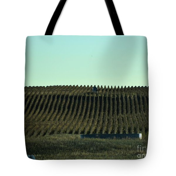 Nebraska Corn Rows Tote Bag