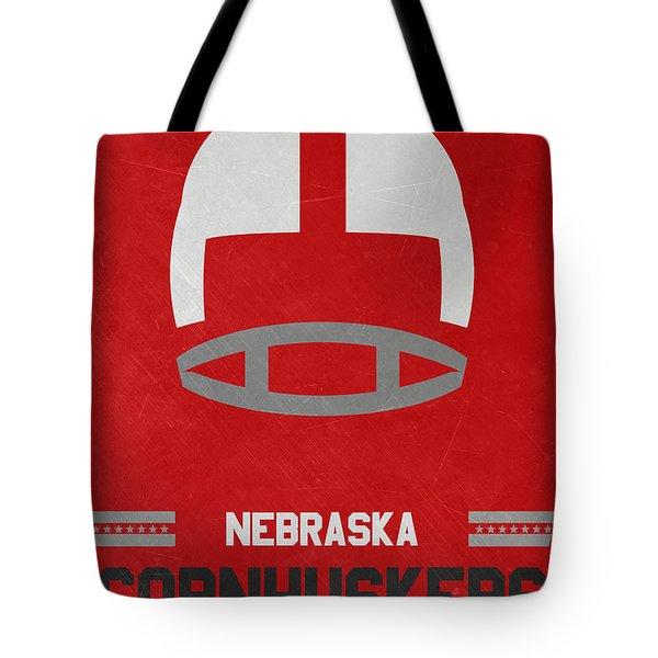Nebraska Cornhuskers Vintage Art Tote Bag