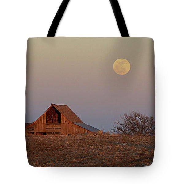 Nebraska Moon Tote Bag by Thomas Bomstad