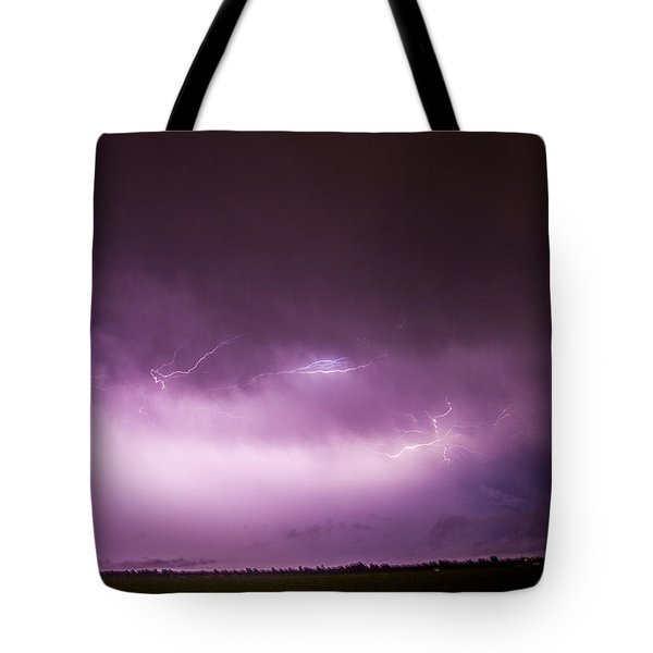 Nebraska Night Thunderstorms 013 Tote Bag