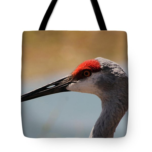 Nebraska Sandhill Crane Tote Bag