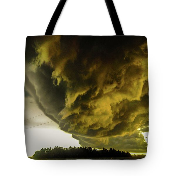 Nebraska Supercell, Arcus, Shelf Cloud, Remastered 018 Tote Bag