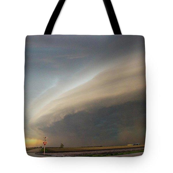 Nebraska Thunderstorm Eye Candy 026 Tote Bag