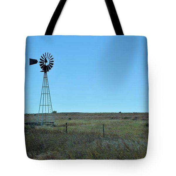 Nebraska Windmill Tote Bag