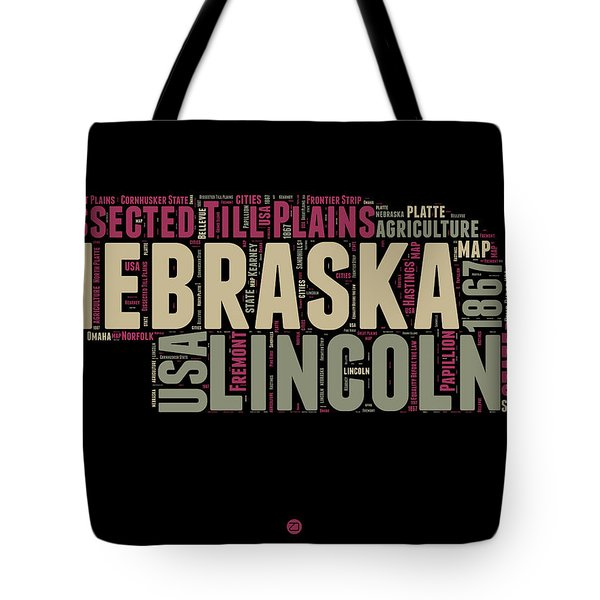 Nebraska Word Cloud 1 Tote Bag