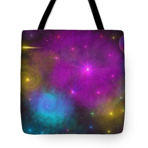 Tote Bag featuring the photograph Nebula Wars by Bernd Hau