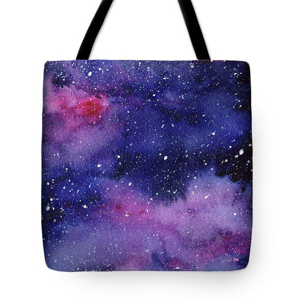 Nebula Watercolor Galaxy Tote Bag