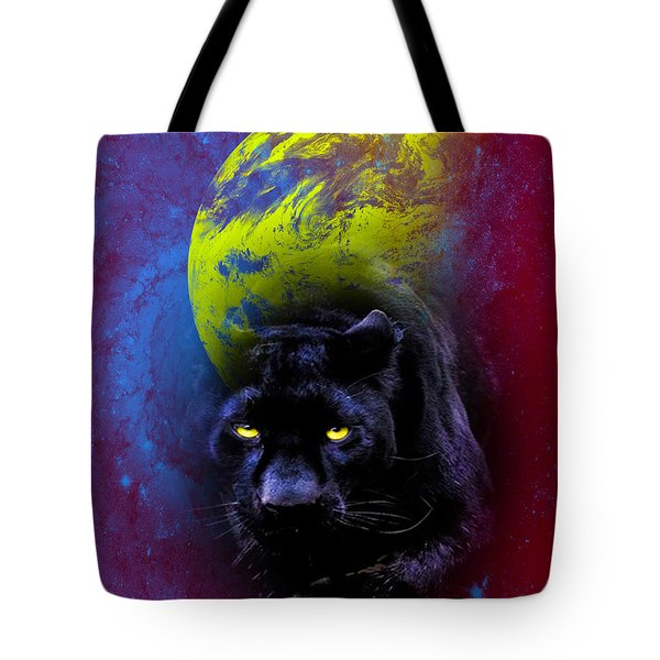 Nebula's Panther Tote Bag by Swank Photography