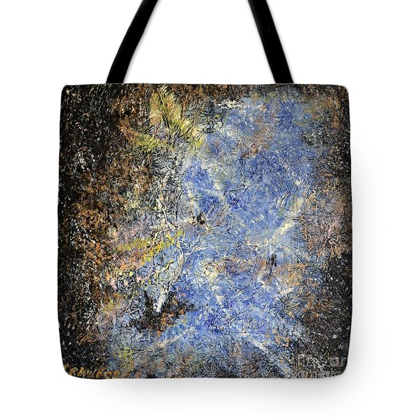 Tote Bag featuring the painting Nebulous   by Lori Jacobus-Crawford