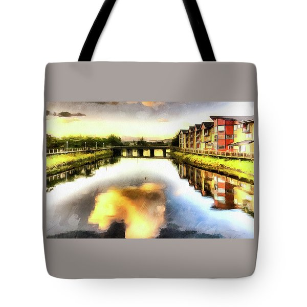 Tote Bag featuring the photograph Necanium River Seaside by Thom Zehrfeld