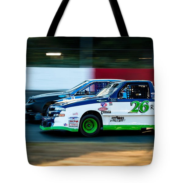 Neck And Neck In The Turn Tote Bag