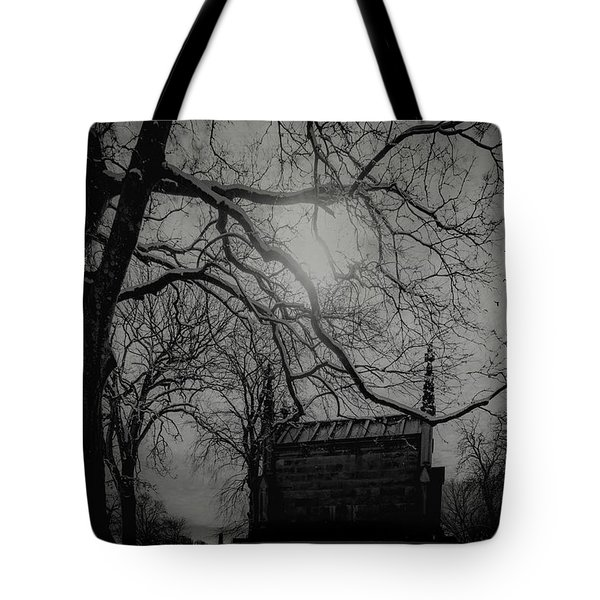 Tote Bag featuring the digital art Necropolis Nine by Chris Lord