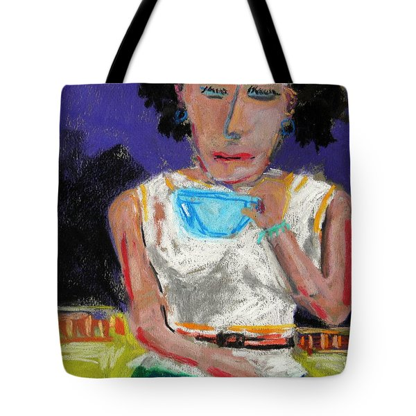 Tote Bag featuring the painting Need Coffee by John Williams
