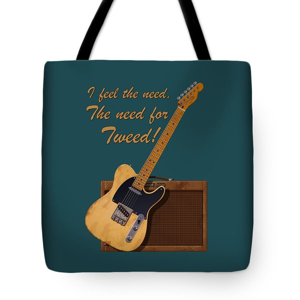 Need For Tweed Tele T Shirt Tote Bag