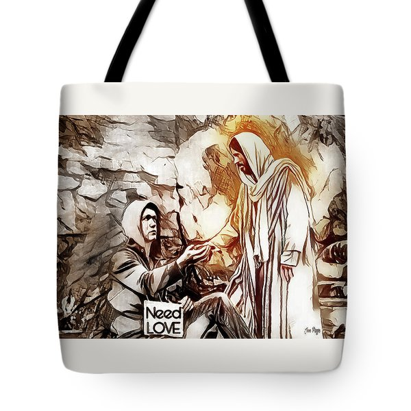 Tote Bag featuring the digital art Need Love by Jennifer Page