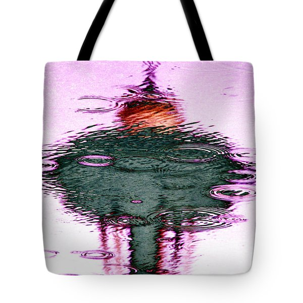 Needle In A Raindrop Stack 2 Tote Bag by Tim Allen