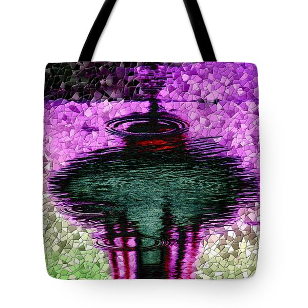 Needle In A Raindrop Stack 3 Tote Bag by Tim Allen
