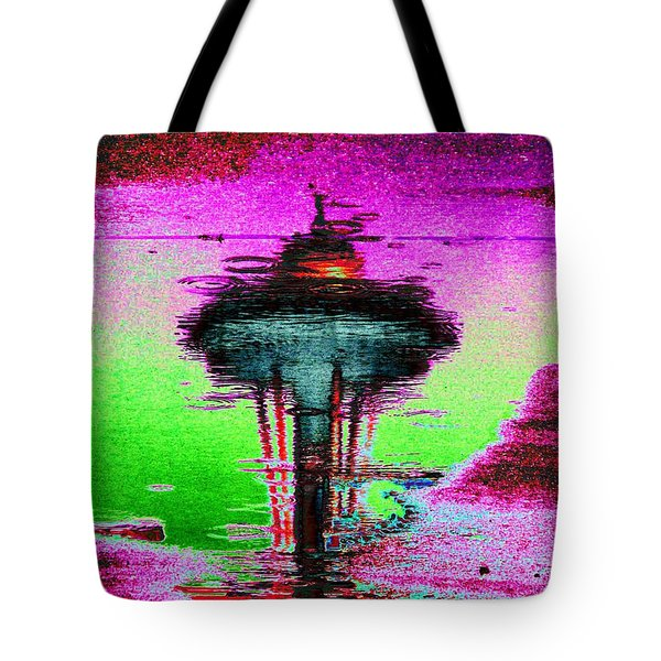 Needle In A Raindrop Stack Tote Bag by Tim Allen