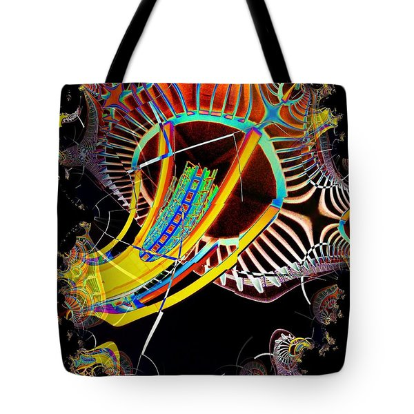 Needle In Fractal 2 Tote Bag by Tim Allen
