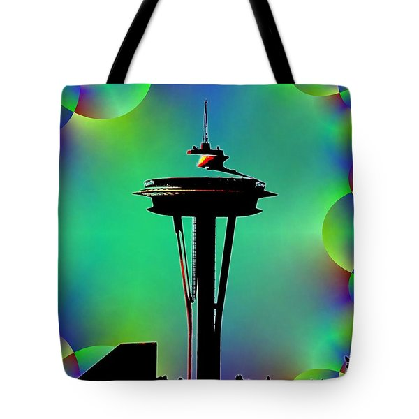 Needle In Fractal 3 Tote Bag by Tim Allen