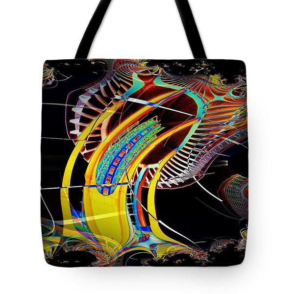 Needle In Fractal 4 Tote Bag by Tim Allen