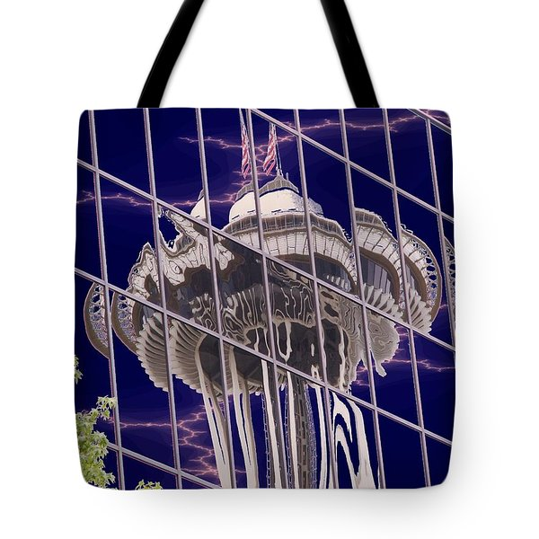 Needle Reflection Tote Bag by Tim Allen