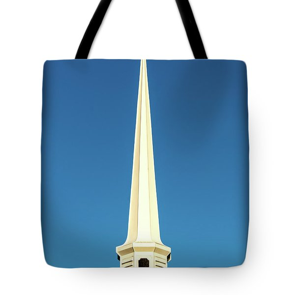 Tote Bag featuring the photograph Needle-shaped Steeple by Onyonet  Photo Studios