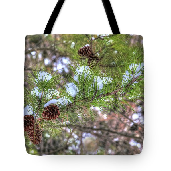Needles And Cones Tote Bag