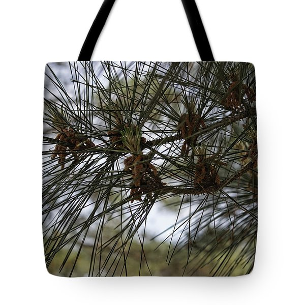 Needles Attached Tote Bag by Roberta Byram