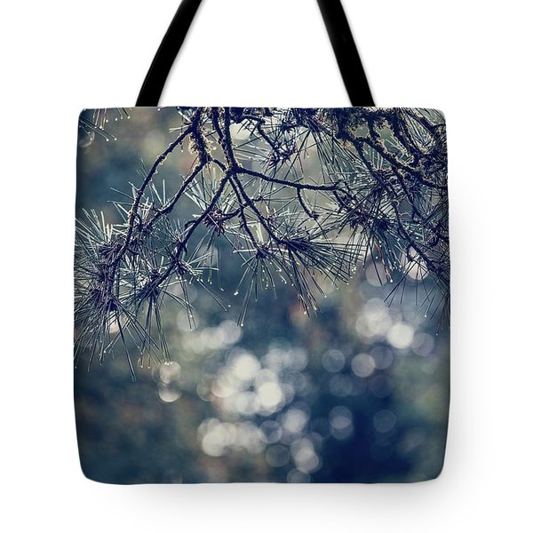 Needles N Droplets Tote Bag