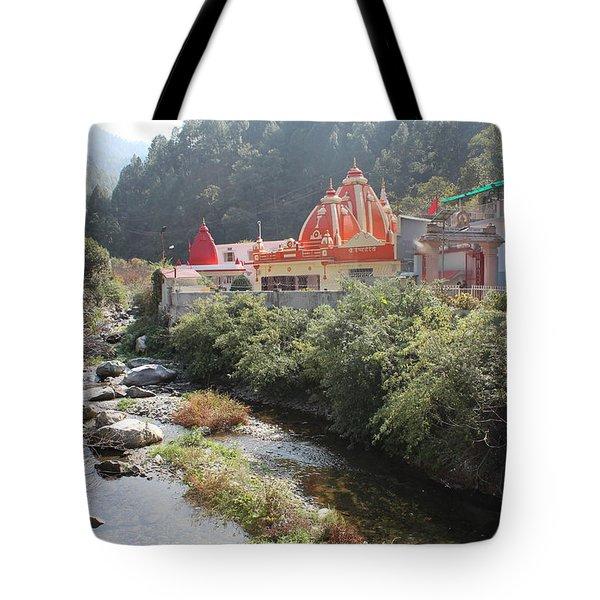 Neem Karoli Baba Ashram, Kainchi Tote Bag by Jennifer Mazzucco