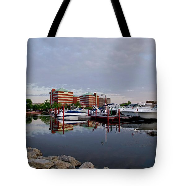 Tote Bag featuring the photograph Neenah Harbor by Joel Witmeyer