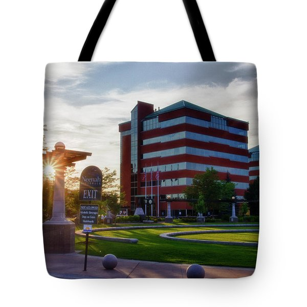 Tote Bag featuring the photograph Neenah Riverwalk by Joel Witmeyer