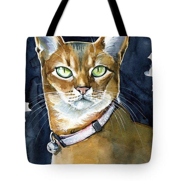 Nefertiti - Abyssinian Cat Portrait Tote Bag