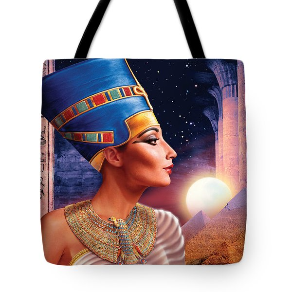 Nefertiti Variant 5 Tote Bag by Andrew Farley