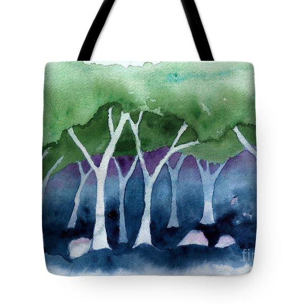 Negative Thinking Makes A Woodland Scene Tote Bag