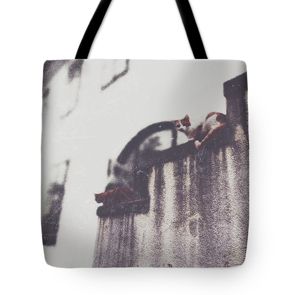 Neighbors Cats Tote Bag by Siegfried Ferlin