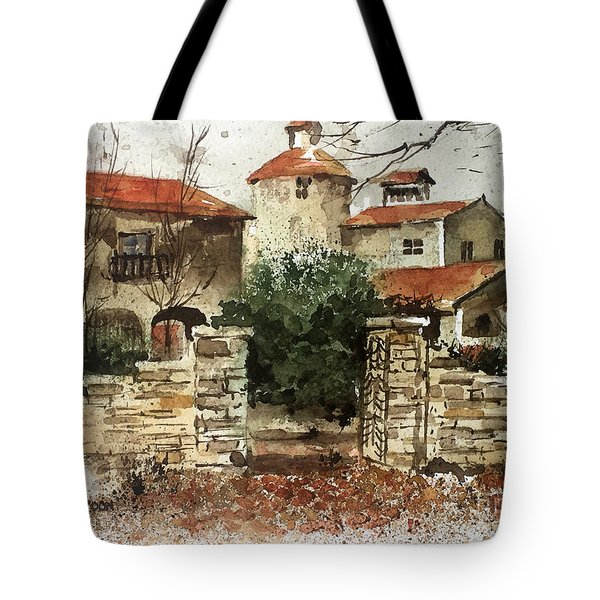 Neighbors Gate Tote Bag