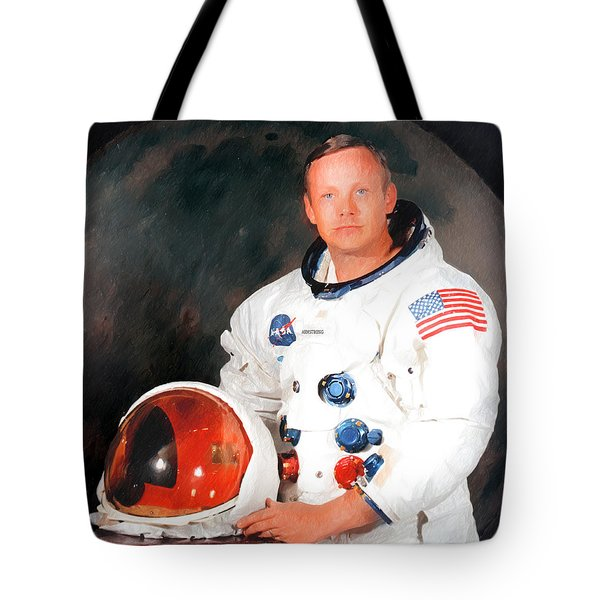 Tote Bag featuring the photograph Neil Armstrong by Ericamaxine Price