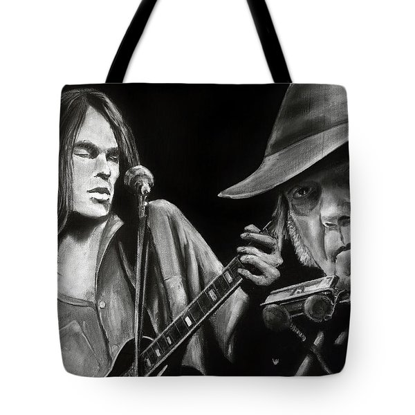 Neil Young And Neil Old Tote Bag